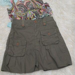 Army Green Cargo Skirt sz M